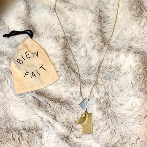 Madewell adjustable geometric pendant necklace